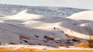snow fall in the Sahara