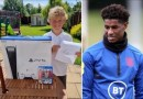 Marcus Rashford sends eight-year-old fan a PS5 and 'Thank You' letter after he helped set up a food bank in his local community