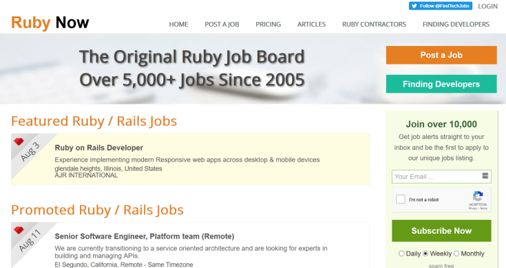 Ruby Job Board
