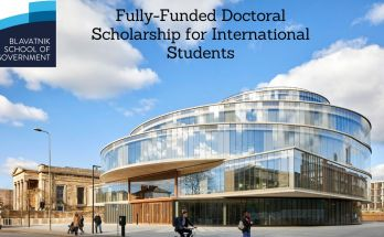 Oxford Blavatnik School of Government 2021 Doctoral Scholarship