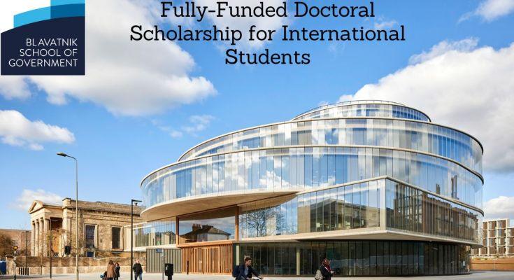 Oxford Blavatnik School of Government 2021 Doctoral Scholarship