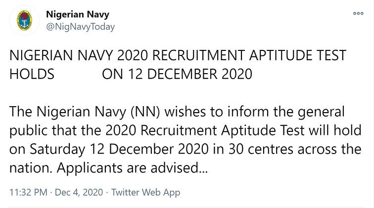 nigerian navy shortlisted candidates
