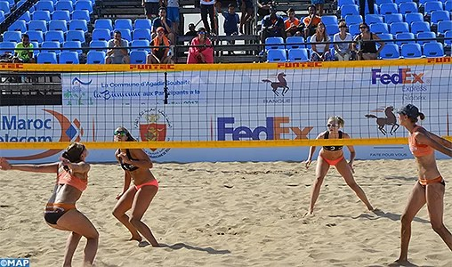 Seaside volleyball: Morocco hosts the qualifying match for the Olympic Video games