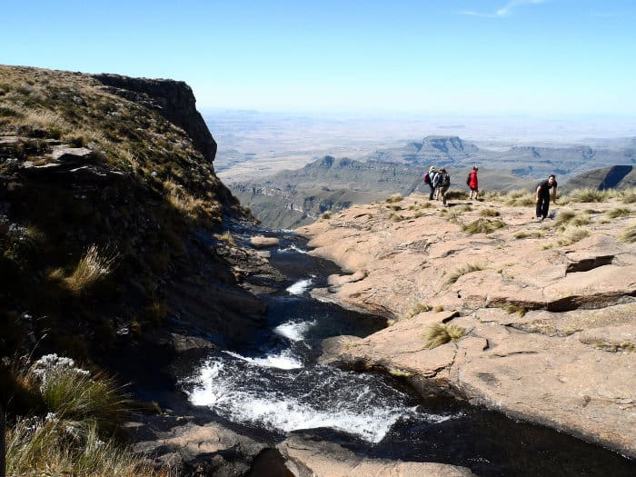 At 948 metres Tugela is the world's second highest waterfall and starts at more than 3000 metres above sea level