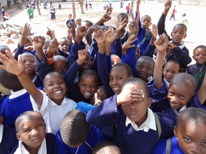 Students at Olasiti Primary School