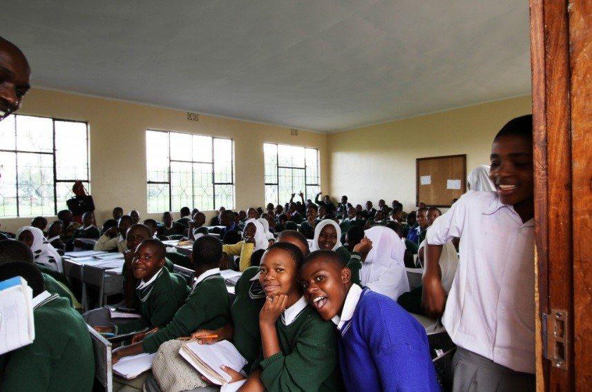 Students at Olasiti Secondary School