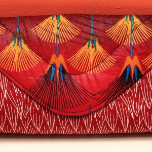 Red African Fabric Small Purse