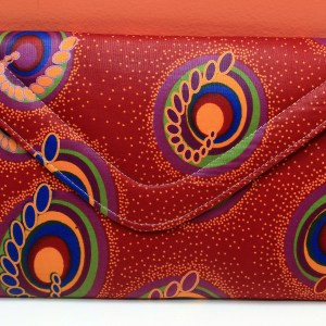 Red & Green African Fabric Big Purse