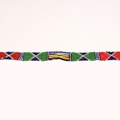 Multicolored 9 African Beaded Necklace