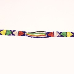 Multicolored 3 African Beaded Necklace