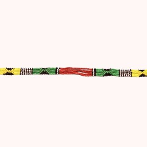 Small Multicolored 3 African Beaded Necklace