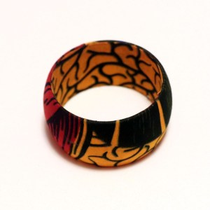 Yellow, Red & Black African Print Bangles