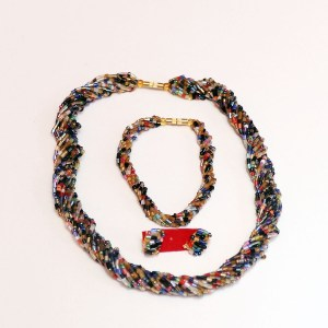 Multicolored 6 African Beaded Necklace Set