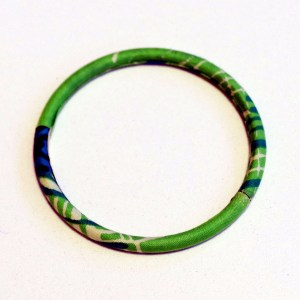 Light Green Thin African Print Bracelet