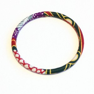 Multicolored Thin African Print Bracelet