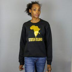 Unisex Africa in Staten Island Crewneck Sweatshirt Gold