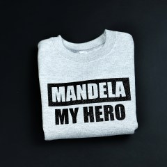 Mandela My Hero Grey & Black