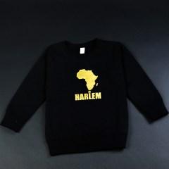 Africa in Harlem Crewneck Sweatshirt Black & Gold