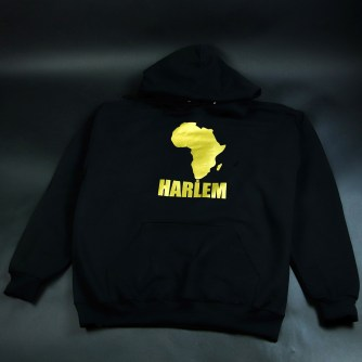 Africa in Harlem Hooded Sweatshirt Black & Gold