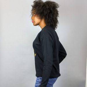 Unisex Africa Black & Gold Crewneck Sweatshirt
