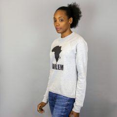 Unisex Africa in Harlem Grey & Glitter Black Crewneck Sweatshirt