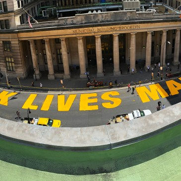 Brooklyn Borough President Eric Adams unveils second Black Lives Matter mural in New York City