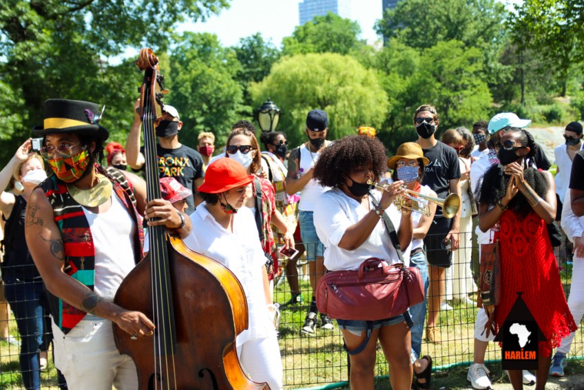 Harlem celebrates Juneteenth with The Intersectional Voices Collectives, The BlackSmiths and The Wide Awakes-9367