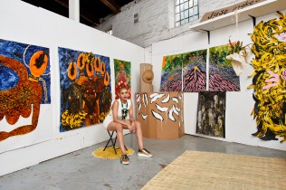 Lady Skollie in her studio, copyright the artist, courtesy Tyburn Gallery. Photo by Anthea Pokroy