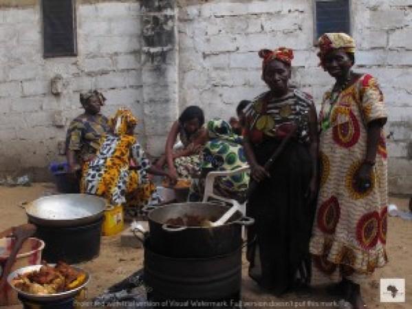 banchetto nuziale in Gambia