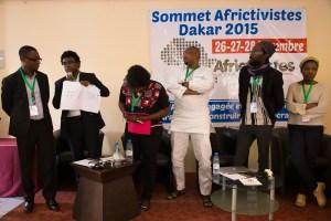 atattivisti al summit Africtivistes