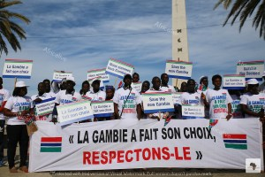 Sit-in Dakar per Gambia