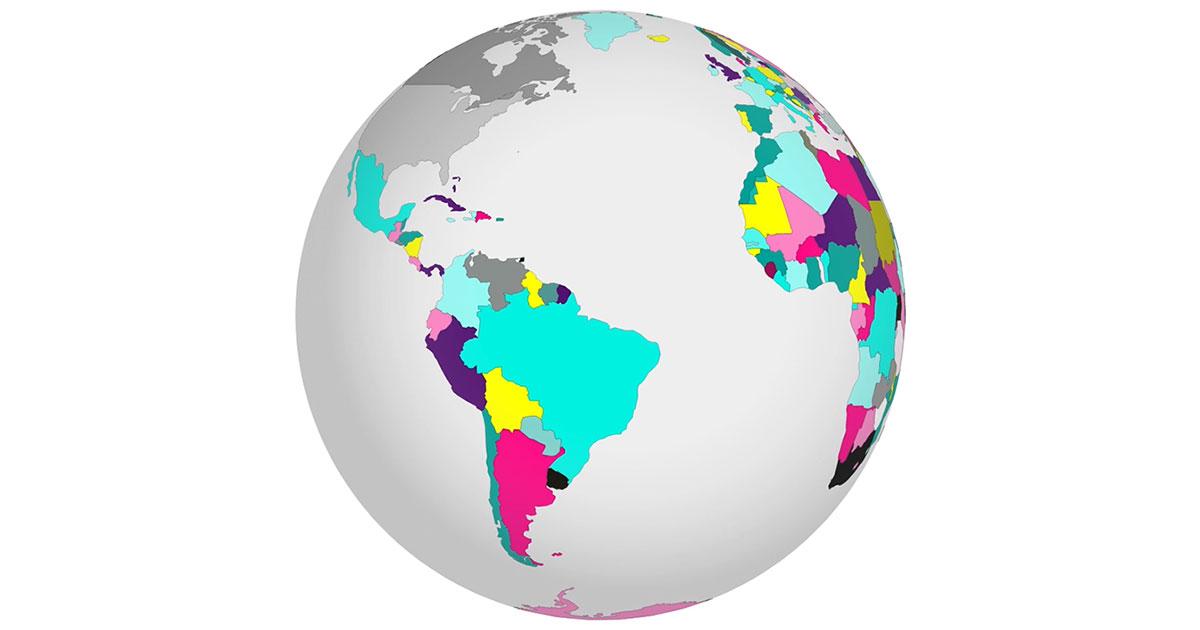 Globalisation - a globe