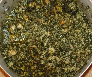 Ndolè or Douala bitter leaf stew (Cameroon)