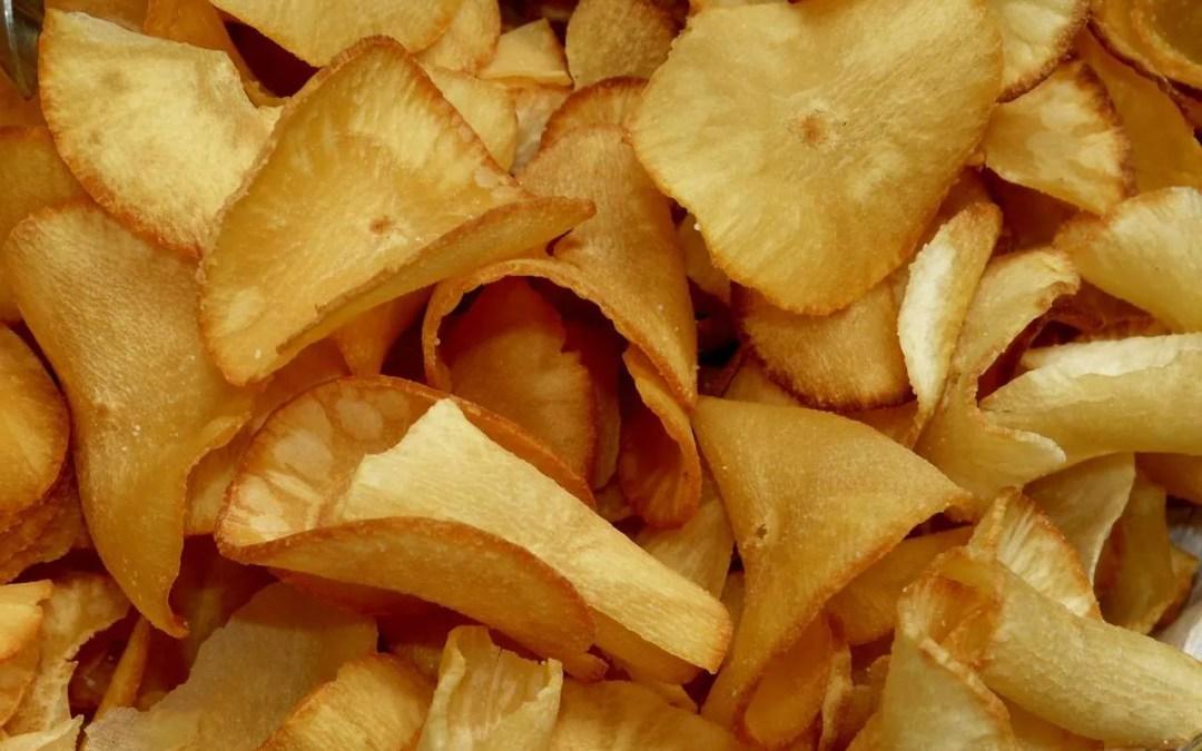 Cassava crisps