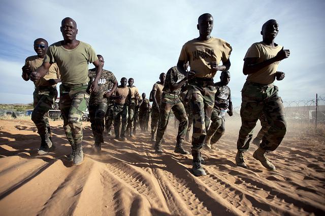 African peacekeepers training as part of a hybrid AU-UN operation. Credit: UN Photo/Albert Gonzalez Farran