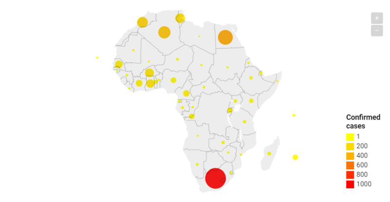 Coronavirus in Africa Tracker: How many covid-19 cases & where ...