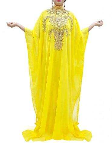Cover up Beach Wear Plus Size Beaded Kaftan Dresses for Women