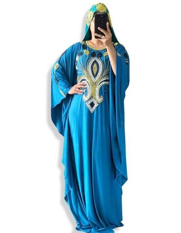Abaya Muslim Dubai kaftan Moroccan Plus size African Attire Wedding Gown Formal