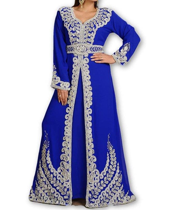 Exclusive Party Wear Kaftan Moroccan Wedding Gown Dubai Kaftan