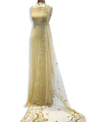 Elegant African Party Wear Crystal Beaded Designer Bridesmaid Dress Material