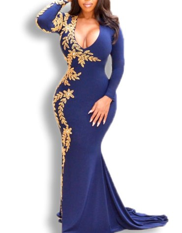 African Wedding Evening Prom Party Wear One Side Moroccan Beaded Work Spandex kaftan