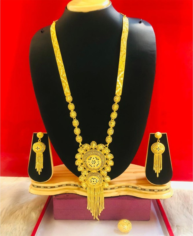 African New Stylish Look Gold Plated Necklace Set