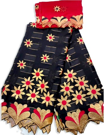 Elegant Designer Swiss Voile Cotton 2 Piece Embroidery African Dress Material For Women