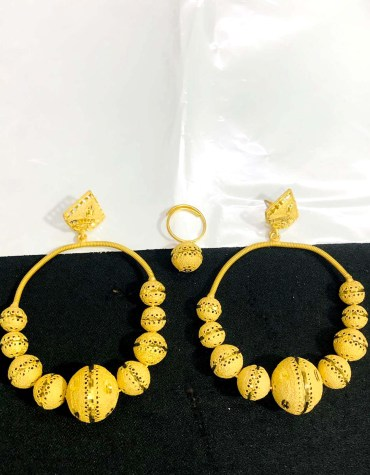 2020 New Designer golden earring long shape wedding party set