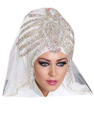 Super African Beautiful Crystal Stone Beaded Designer Head Scarf for Women