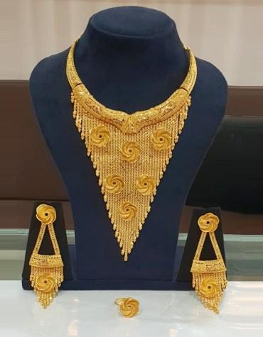 African 2 Gram Gold Neckalce party Neck Golden