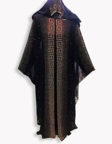 African Attire Abaya Gold work Material Moroccan Party Wear Dubai kaftan caftan