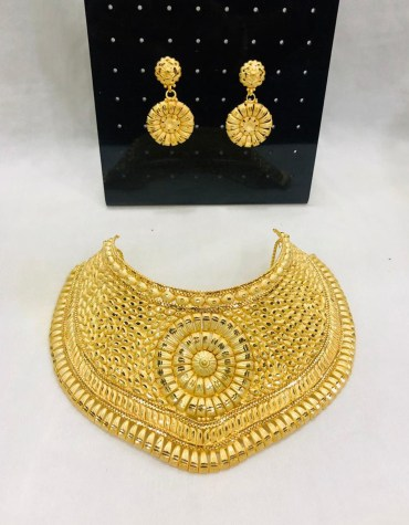 African Design Golden Plated Necklace Set