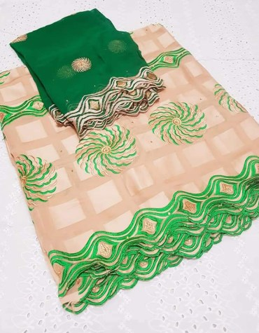 Latest African Designer Swiss Voile Cotton With Elegant Embroidery Dress Material For Women