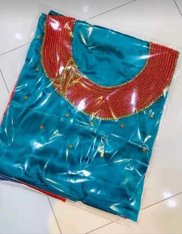 African Attire Designer Dress Material For Wedding Satin Silk Dresses Material For Women